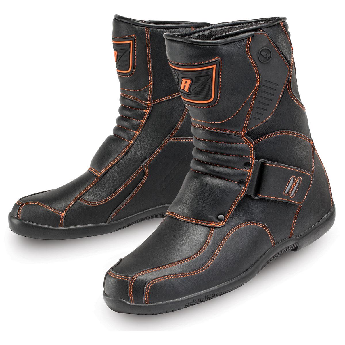 Joe Rocket Men's Mercury Black/Orange Leather Boots