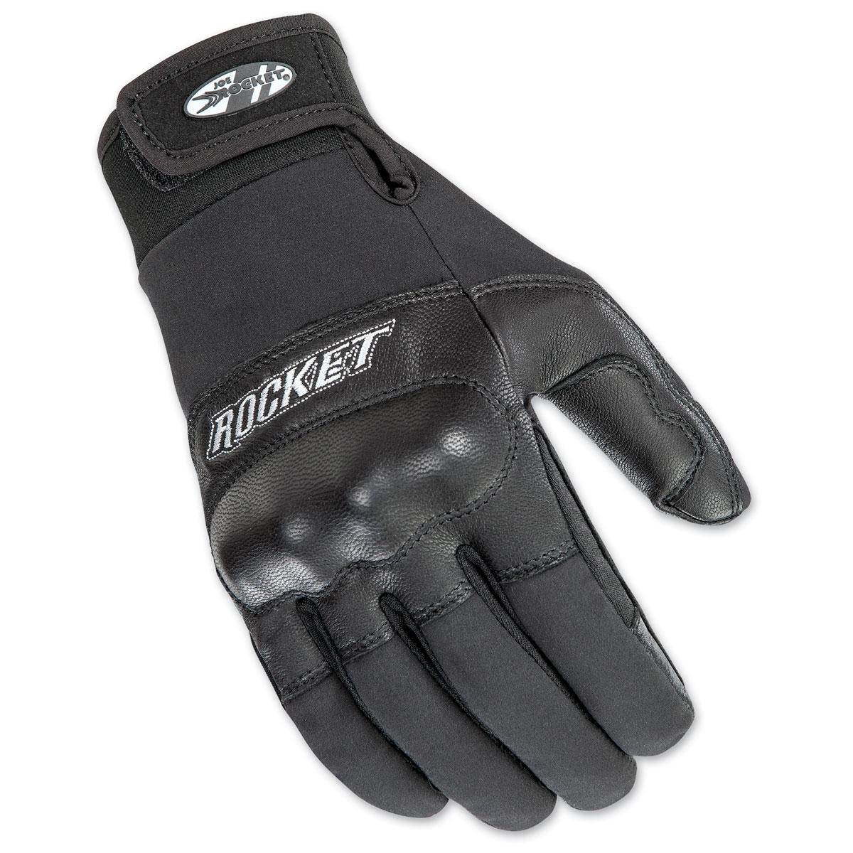 Joe Rocket Men's Prime Black Leather Gloves