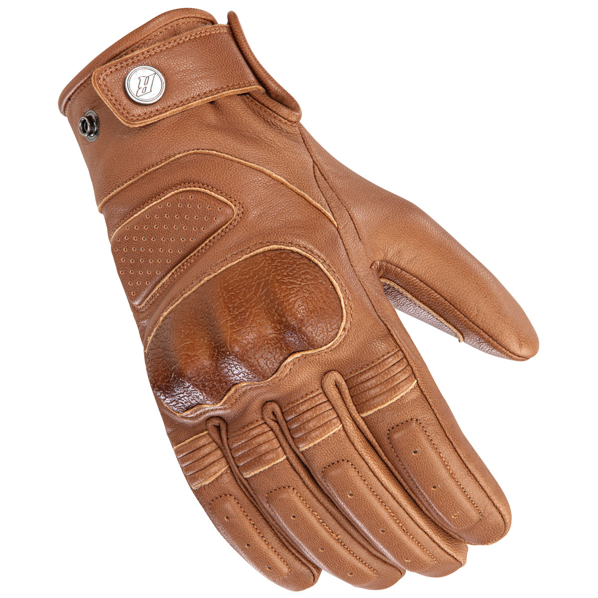 Joe Rocket Men's Woodbridge Dark Tan Leather Gloves