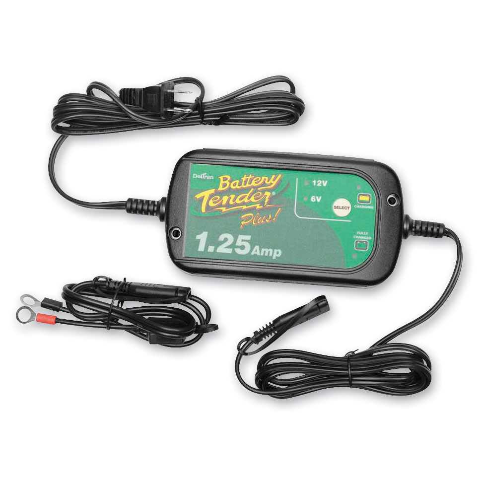 Battery Tender Selectable 6 Volt/12 Volt 1.25-Amp Battery Charger