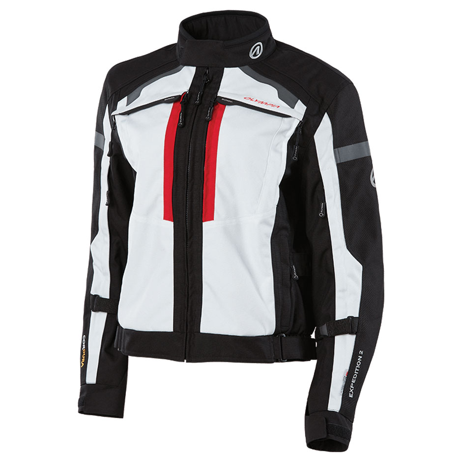 Olympia Moto Sports Women's Expedition II Ivory Textile Jacket