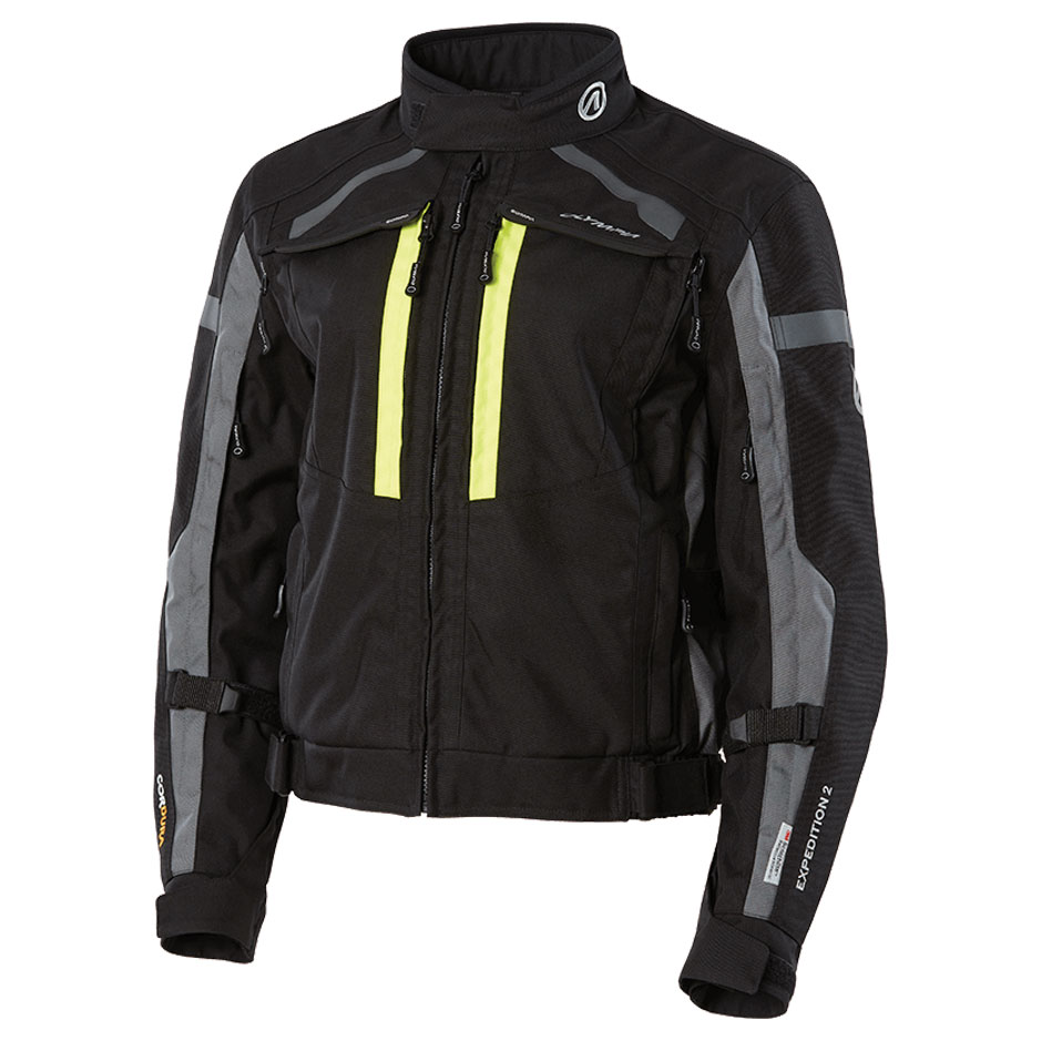Olympia Moto Sports Women's Expedition II Neon Yellow Textile Jacket