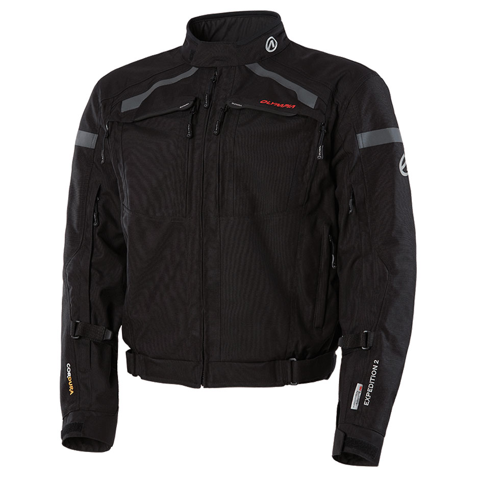 Olympia Moto Sports Men's Expedition 2 Black Textile Jacket