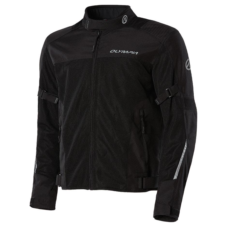 Olympia Moto Sports Men's Dallas Black Mesh Jacket