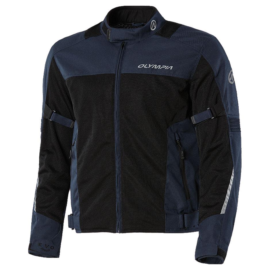 Olympia Moto Sports Men's Dallas Blue Mesh Jacket