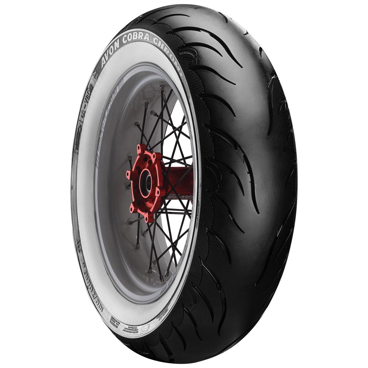 Avon AV92 Cobra Chrome MT90B16 Wide Whitewall Rear Tire