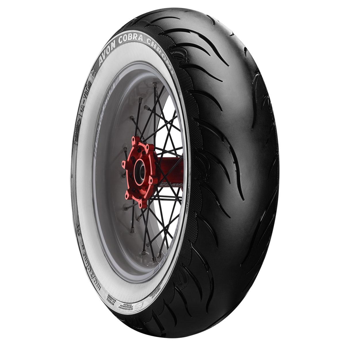 Avon AV92 Cobra Chrome 180/65B16 Wide Whitewall Rear Tire