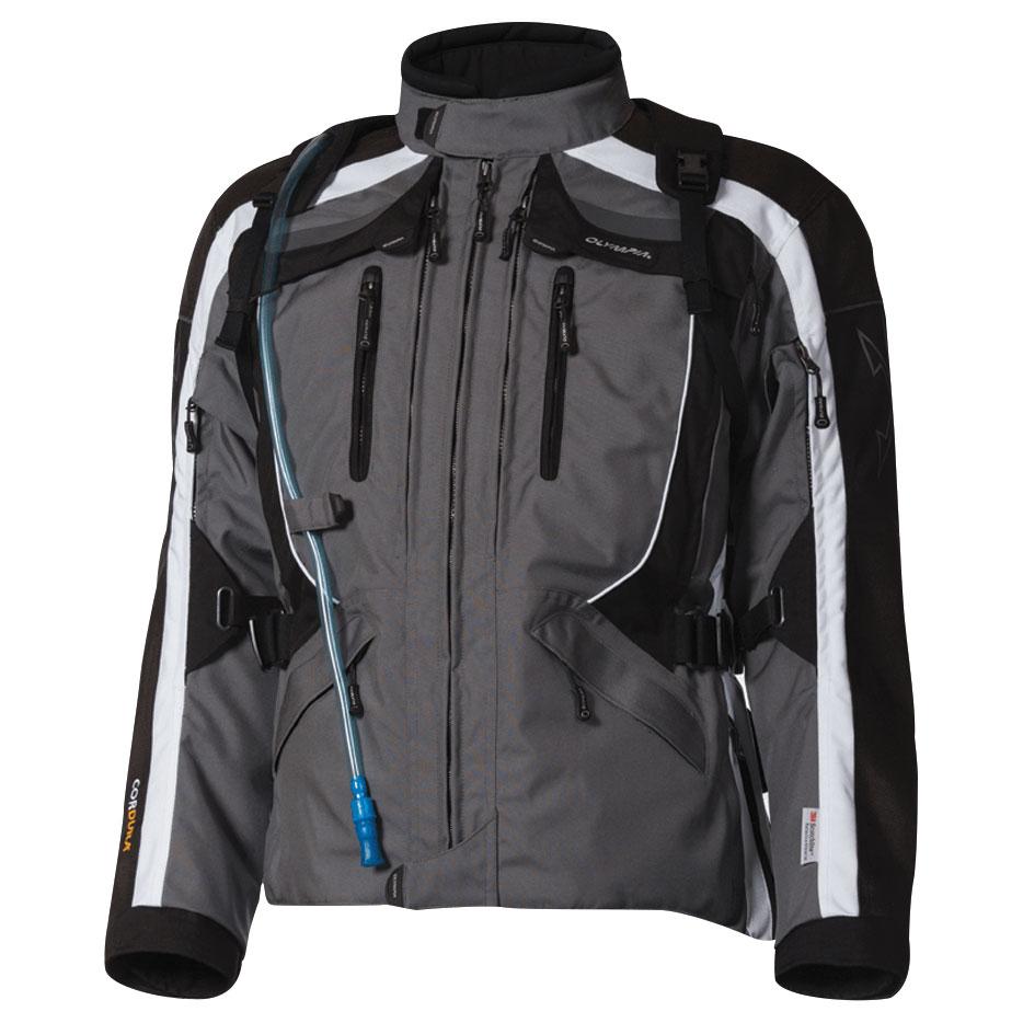 Olympia Moto Sports Men's X Moto 2 Ivory/Pewter Textile Jacket