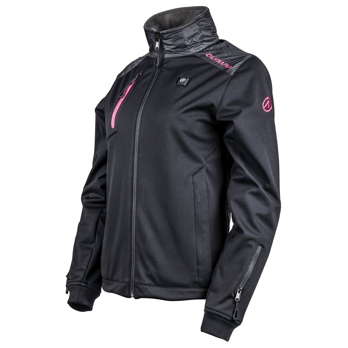 Olympia Moto Sports Women's North Bay Heated Black Textile Jacket