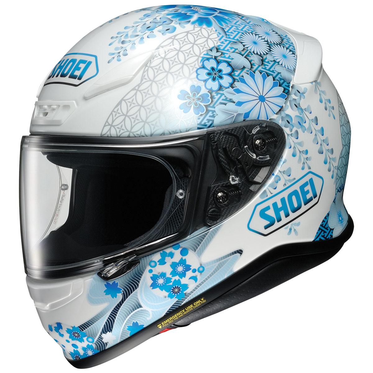 Shoei RF-1200 Harmonic Blue/White Full Face Helmet