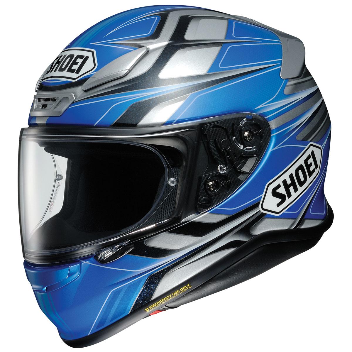 Shoei RF-1200 Rumpus Blue/Gray Full Face Helmet