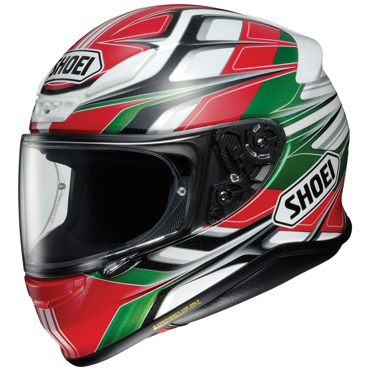 Shoei RF-1200 Rumpus Red/Green/White Full Face Helmet