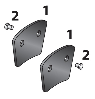 J&P Cycles® Pad Set with Rivets