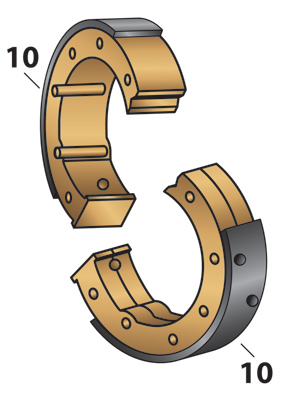 J&P Cycles® Brake Shoes