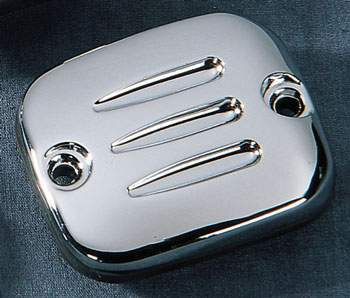 J&P Cycles Master Cylinder Cover with Grooves