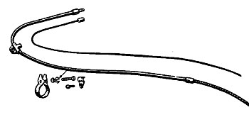 Spring Fork Brake Cable