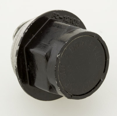 V-Twin Manufacturing Black Rear Master Cylinder Cap