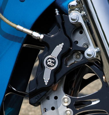 Performance Machine 6 Piston Differential Bore Front Left Caliper