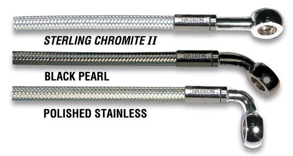 Magnum Sterling Chromite II Upper Brake Line 14″ 3/8″/10mm, 180°