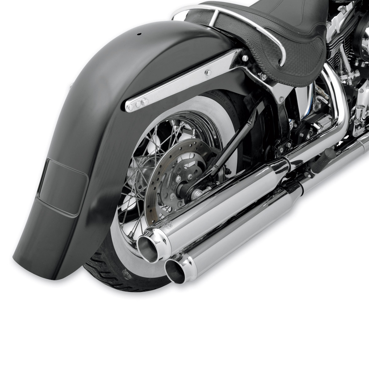 Klock Werks Stretch Rear Fender with Frenched Plate Pocket
