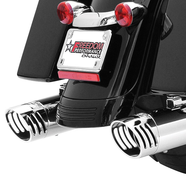 Freedom Performance Racing Dual Exhaust Chrome w/ Chrome End Caps