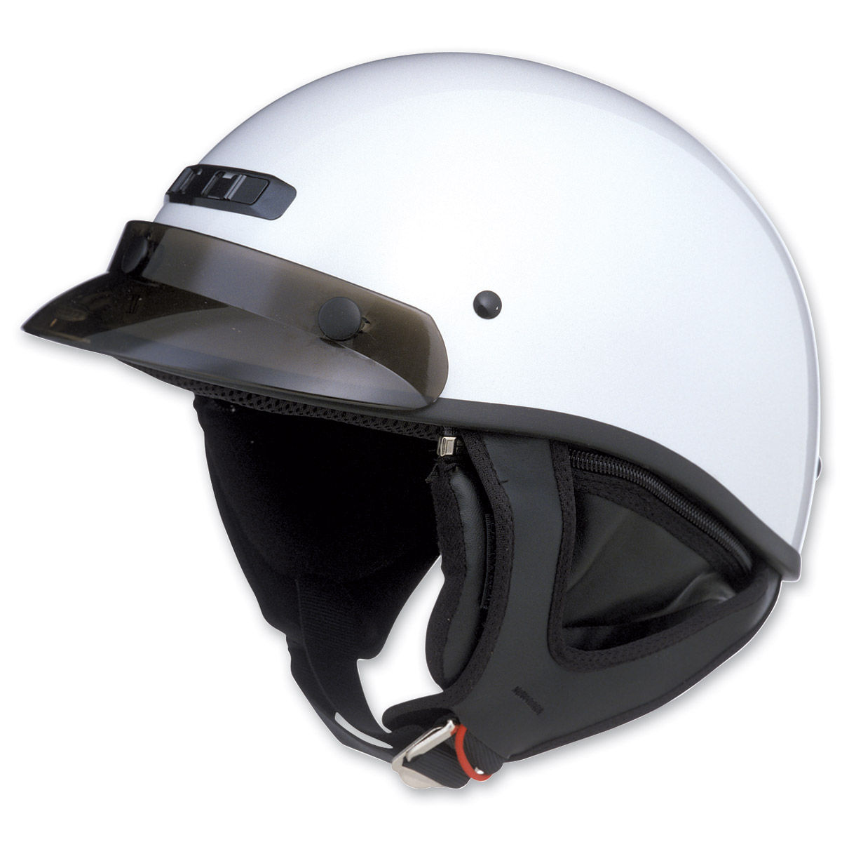GMAX GM35 Fully Dressed Pearl White Half Helmet