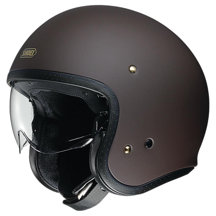Shoei J-O Matte Brown Open Face Helmet