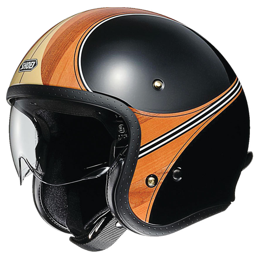 Shoei J-O Waimea Black/Wood Open Face Helmet
