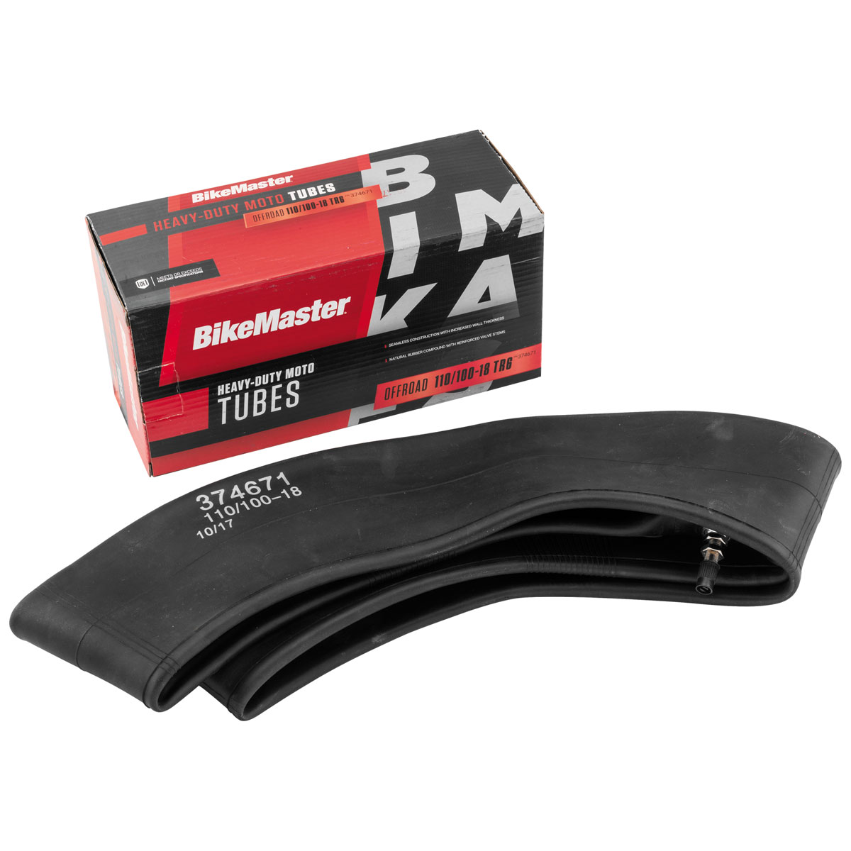 BikeMaster 110/100-18 Heavy Duty TR-6 Straight Metal Stem Tube