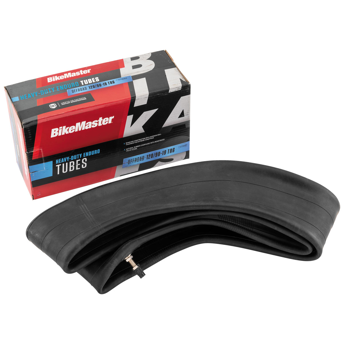 BikeMaster 120/90-19 Heavy Duty TR-6 Straight Metal Stem Tube