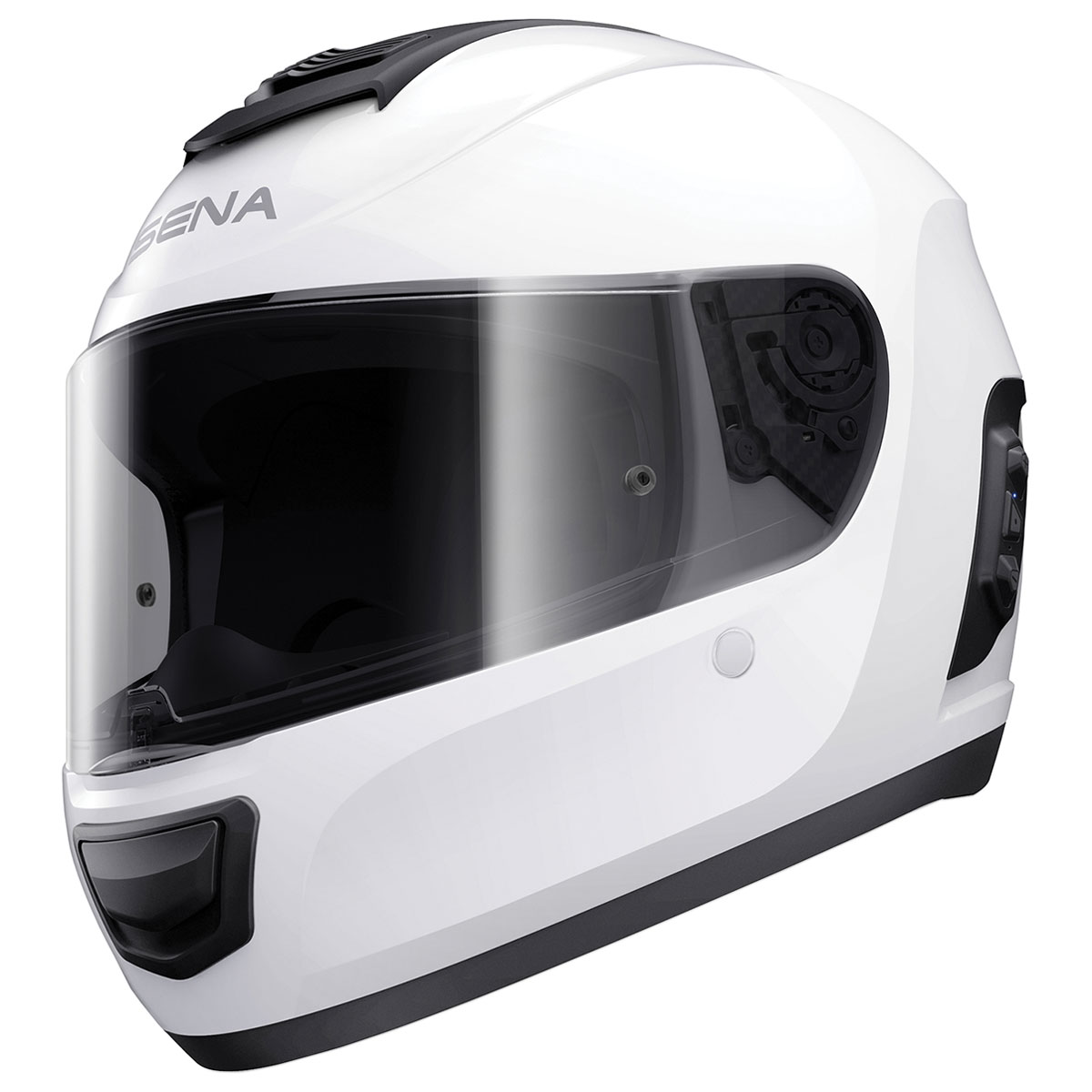 Sena Technologies Momentum Bluetooth Integrated White Full Face Helmet