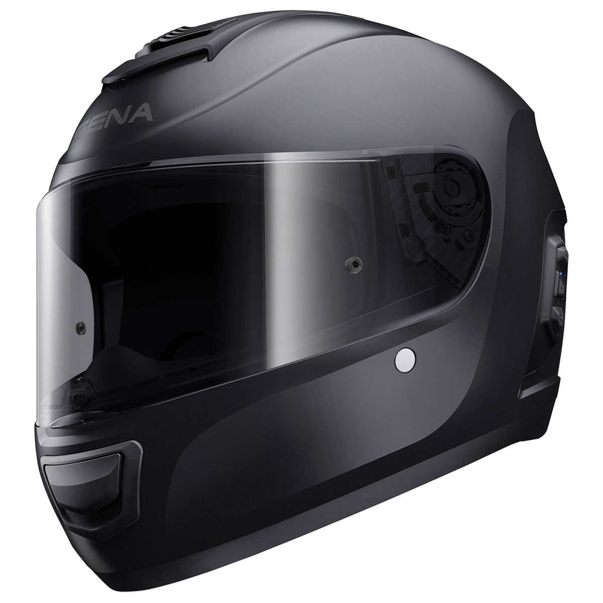 Sena Technologies Momentum Bluetooth Integrated Black Full Face Helmet