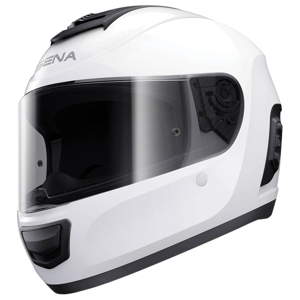 Sena Technologies Momentum INC Bluetooth Integrated White Full Face Helmet