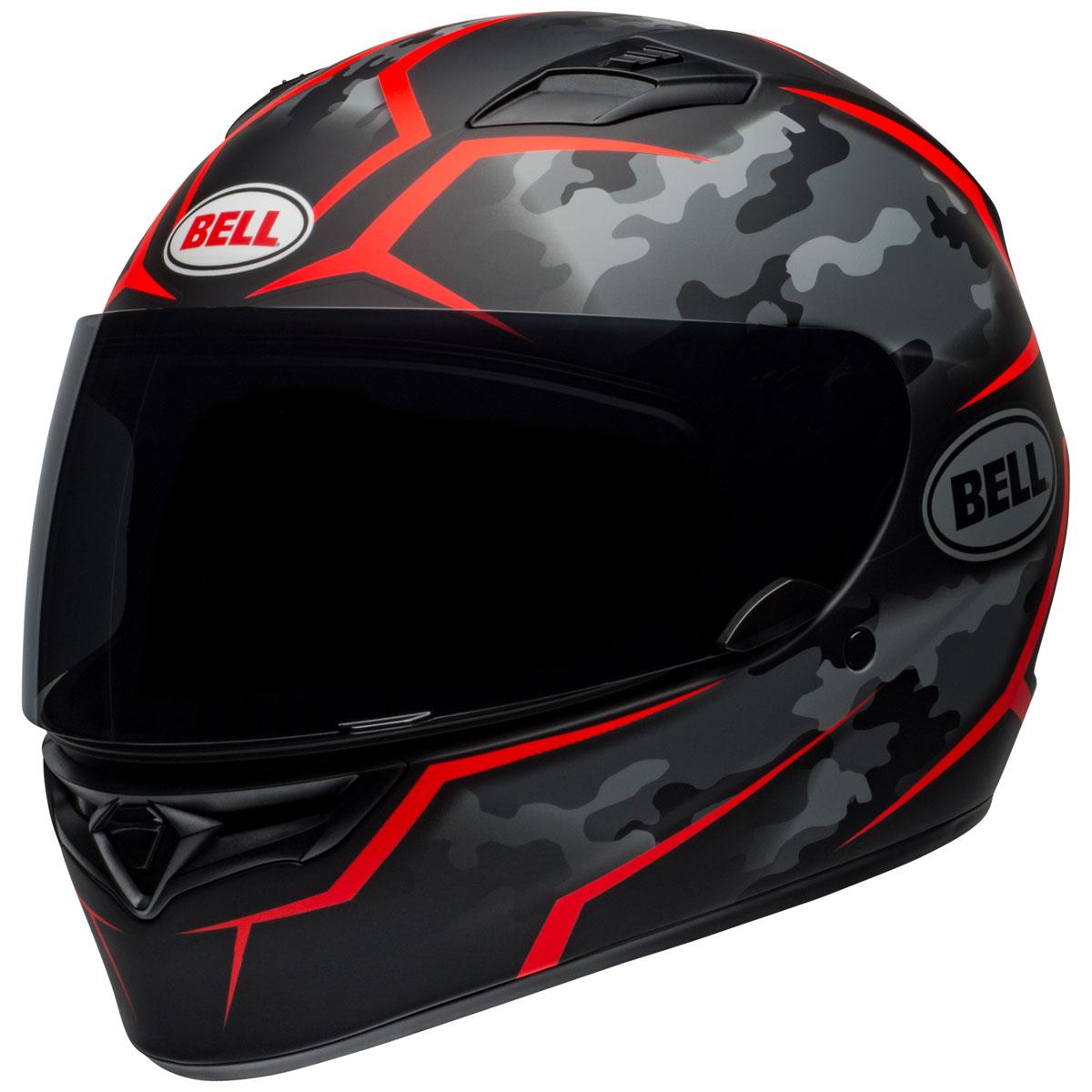 Bell Qualifier Stealth Camo Matte Black/Red Full Face Helmet