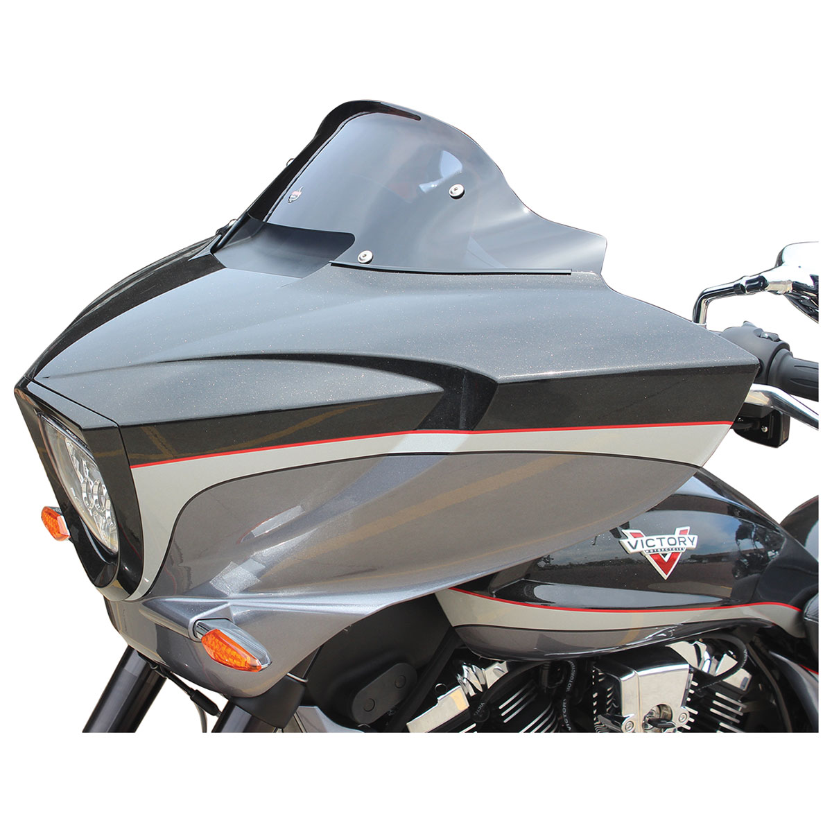 Klock Werks Low Dark Smoke Flare Windshield