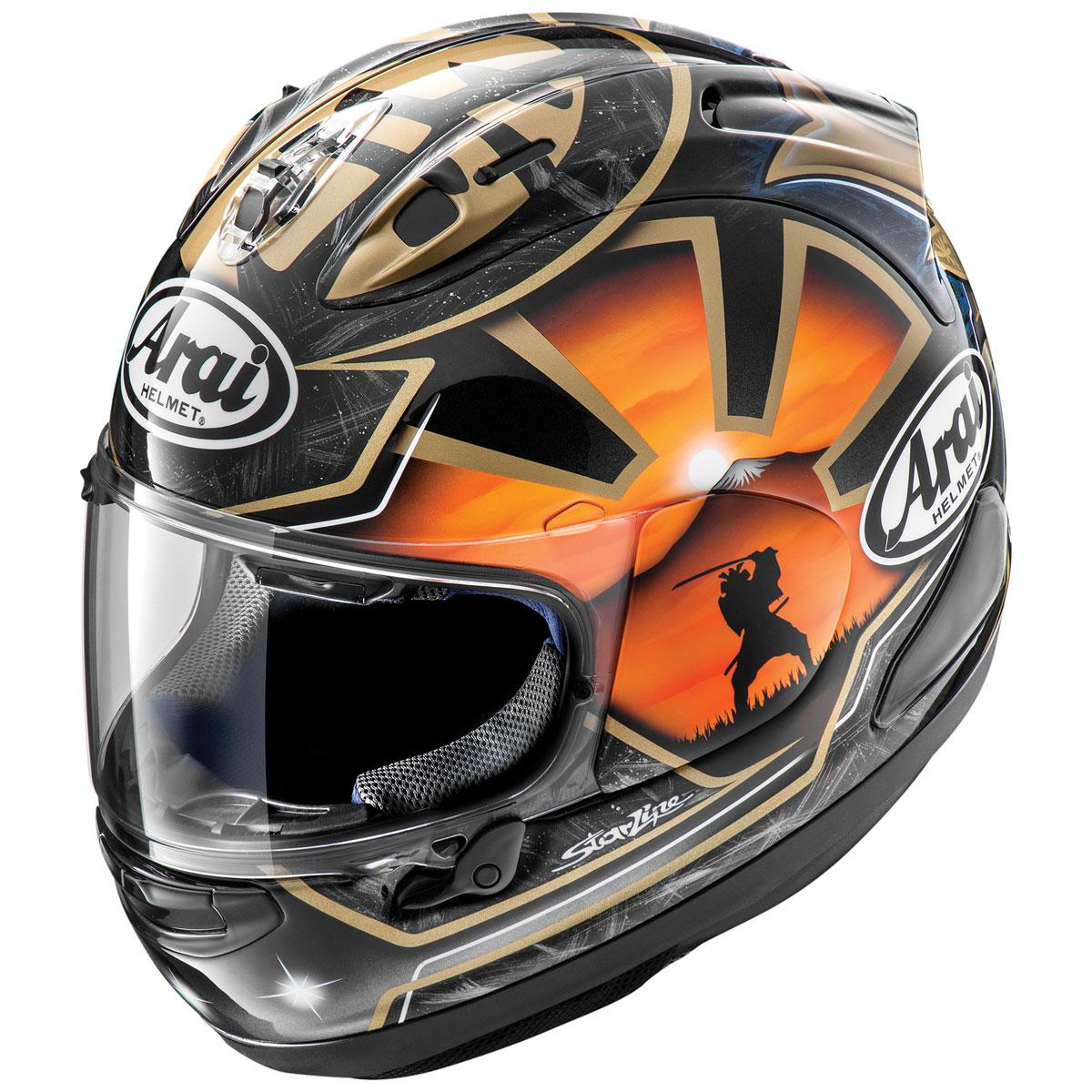 Arai Corsair-X Pedrosa Samurai 2 Black Full Face Helmet