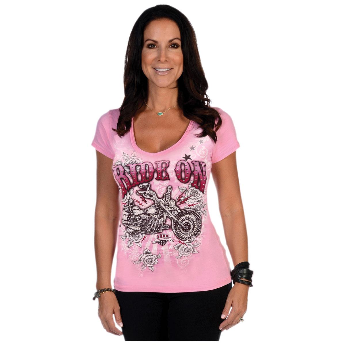 Liberty Wear Women's Ride On Free 2 Pink Tee