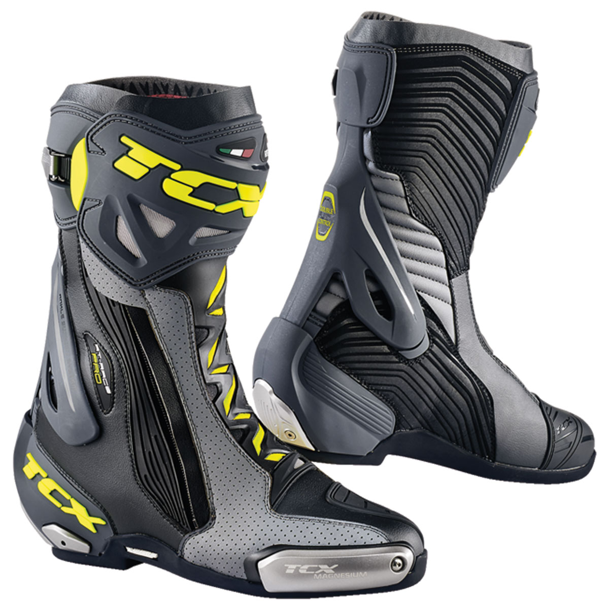 TCX Men's RT-Race Pro Air Black/Gray/Hi-Viz Boots