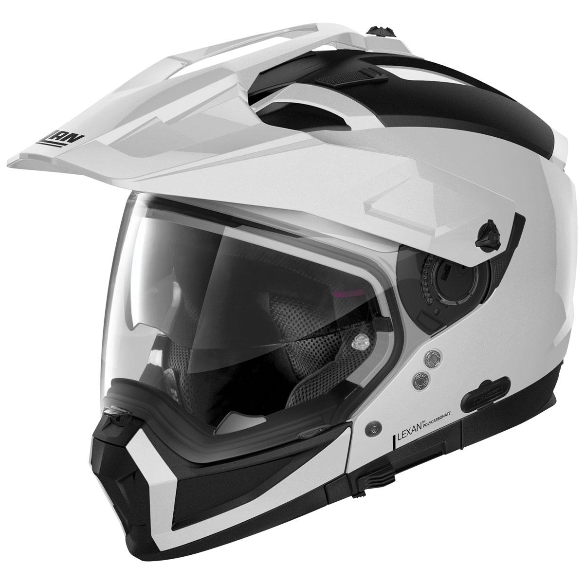 Nolan N70-2 X Metal White Dual Sport Helmet