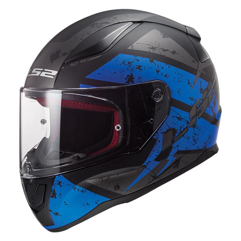 LS2 Rapid Deadbolt Matte Black/Blue Full Face Helmet