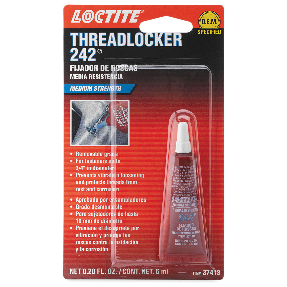 Loctite Blue Threadlocker 242 Medium Strength