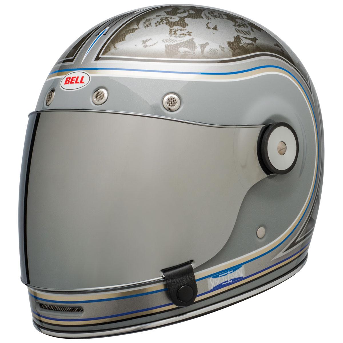 Bell Bullitt SE Schultz Century Silver Full Face Helmet