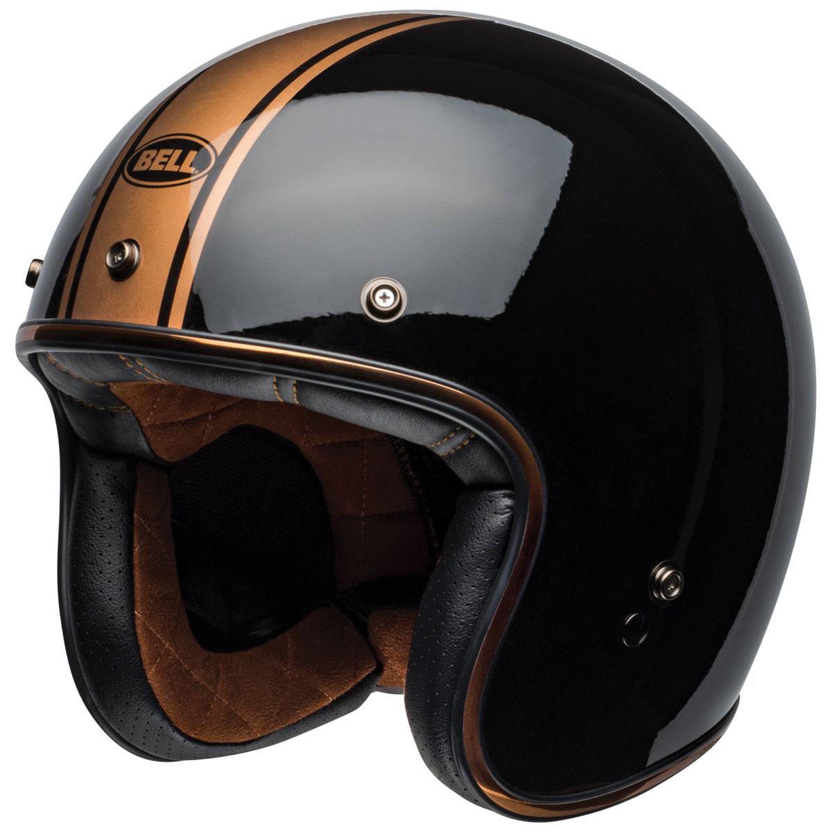 Bell Custom 500 Rally Gloss Black/Bronze Open Face Helmet
