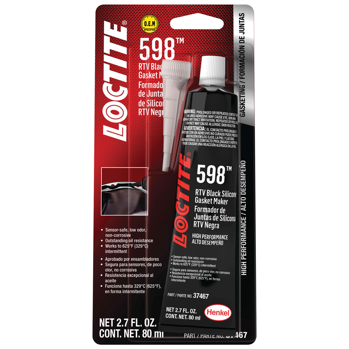 Loctite 598 RTV Black Silicone