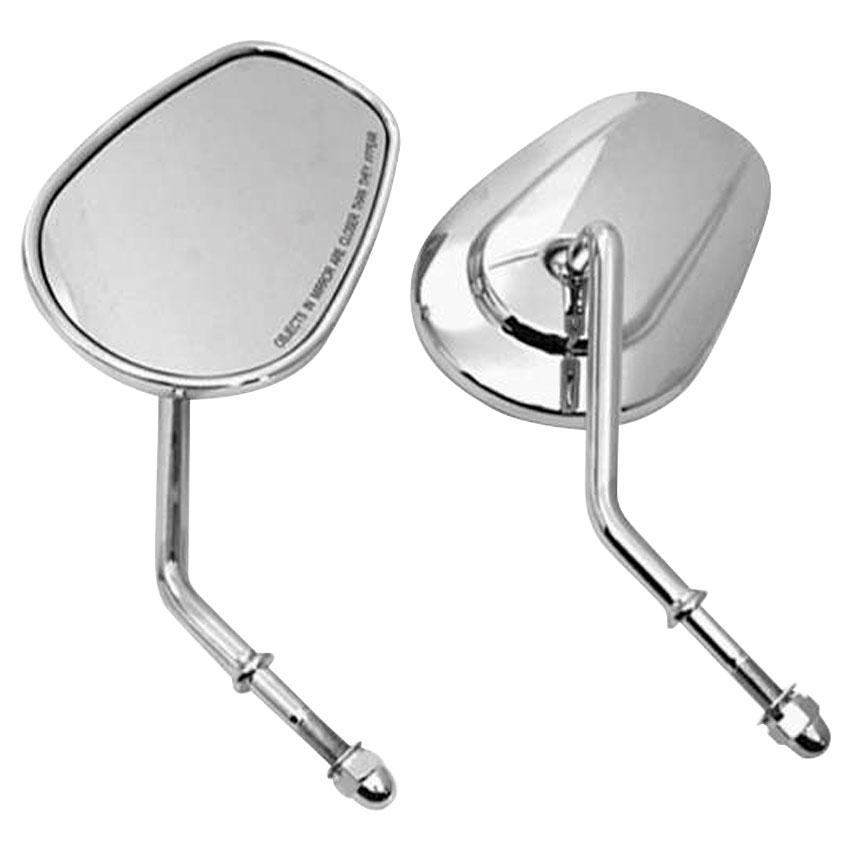 Biker's Choice Tapered Short Stem Mirrors Chrome