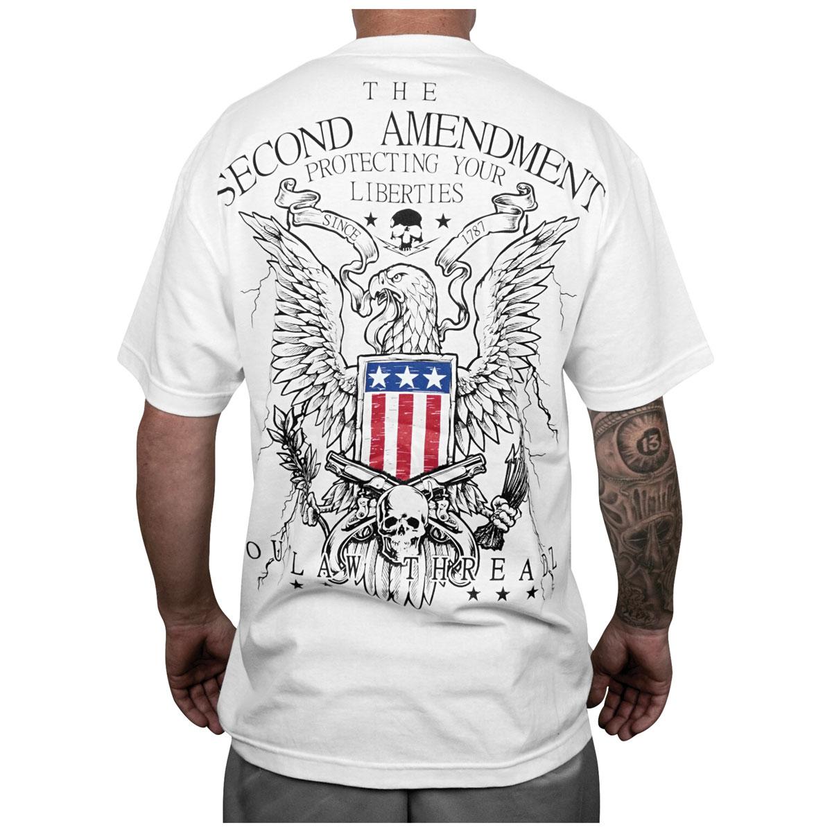 Outlaw Threadz Men's 2nd Amendment White T-Shirt