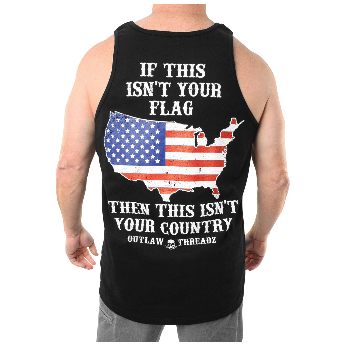 Outlaw Threadz Men's American Honor Black Tank Top