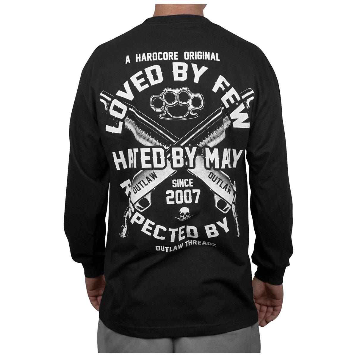 Outlaw Threadz Men's Loved by Few Black Long-Sleeve T-Shirt