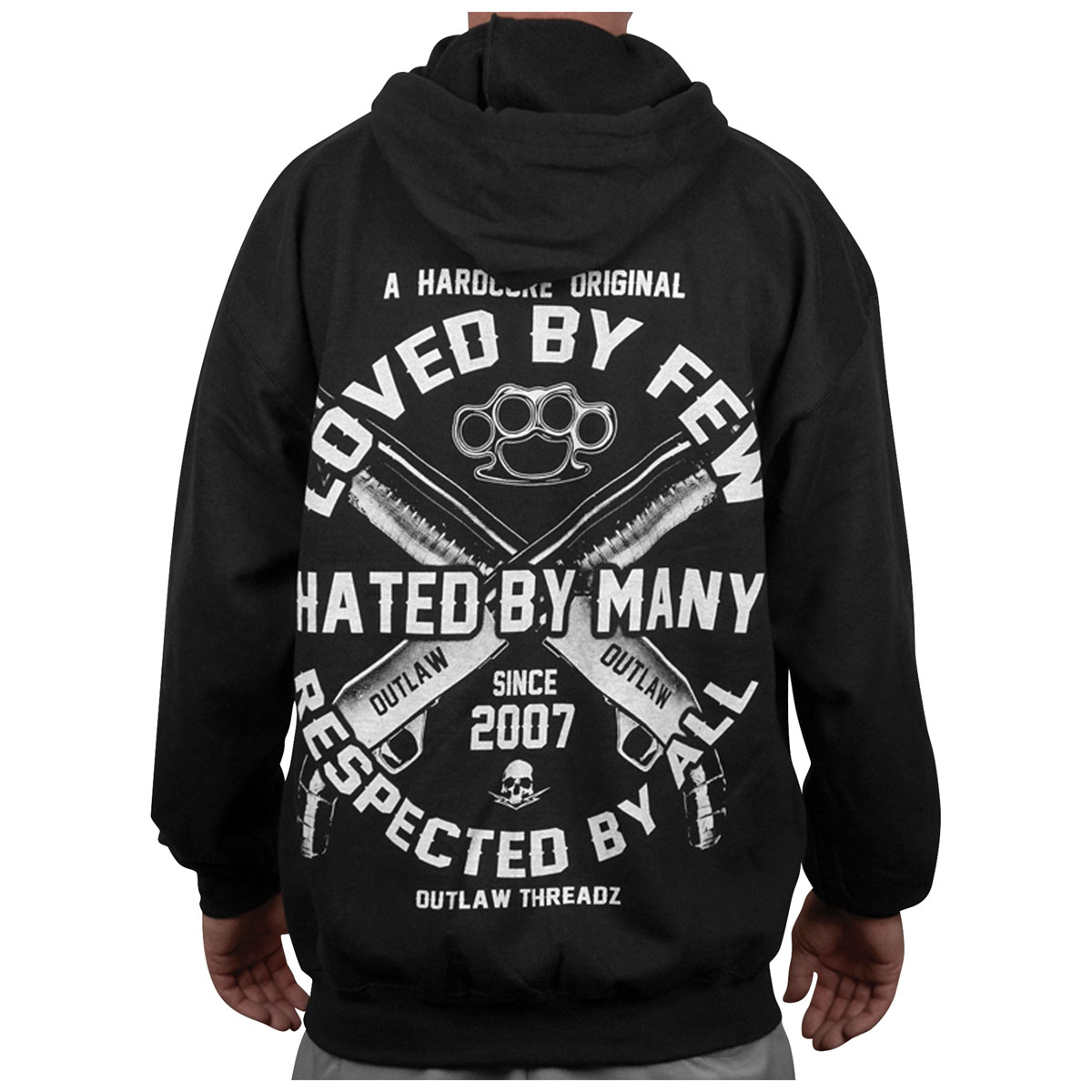 Outlaw Threadz Men's Loved by Few Black Hoodie