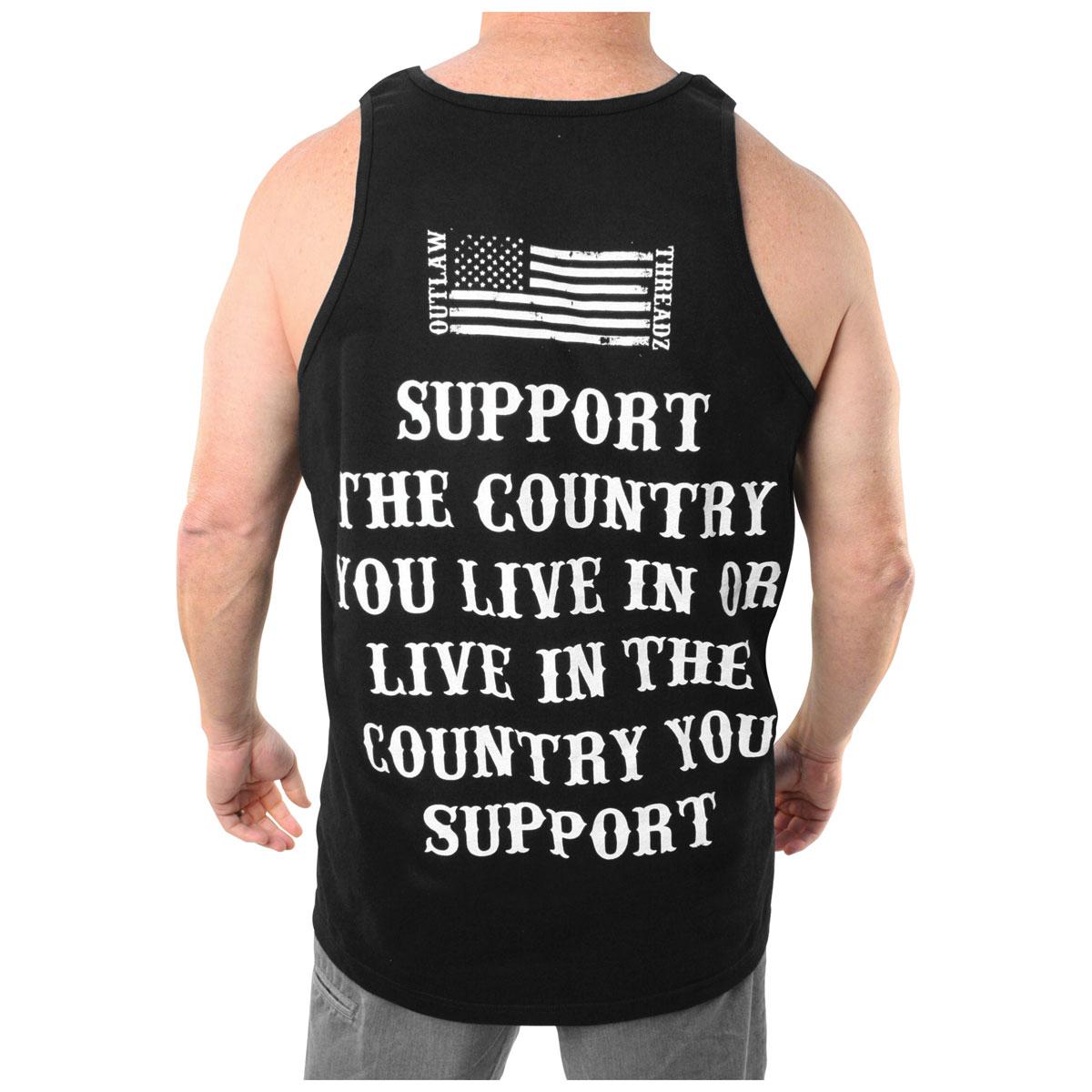 Outlaw Threadz Men's Support Black Tank Top